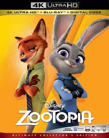 Zootopia Digital Copy Download Code Disney Vudu 4K
