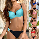 Bikini 2018 Cut Out Thong Bathing Suit High Waist Sexy Swimsuit Solid Micro Swimwear Women Brazilian Biquini Swim Beach Biquinis