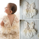 Princess Girl Tutu Romper Dress Newborn Baby Girl Flower Lace Romper Bodysuit Tutu Dress Outfit Clothes 0 24M