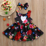 Toddler Kid Baby Girl Clothes Floral Bowknot Princess Party Dresses Outfits retro romantic baby girls dress  August 9