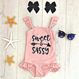 Toddler Kids Baby Girls Ruffles Letter Swimsuit Bikini Swimwear Bathing Suit  Frete Girls Brasil Bikinis 2020 Mujer