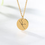 Twelve Constellations Necklace Leo Aries Taurus Gemini Cancer Virgo Libra Scorpio Sagittarius Capricorn Aquarius Pisces Necklace