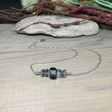 Empath Protection Necklace, Raw Black Tourmaline Necklace, Aura Protection, Labradorite Bar Necklace, Strengthens our will, Calming