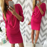 New Arrival Sexy Women Autumn Dress Fashion Solid Candy Color Dress Wear Long Sleeve Cotton Slim Package Hip Dress For Women - serenityboutique