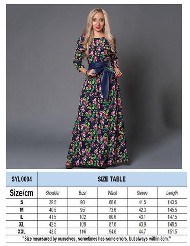 Plus Size S-3XL New Women summer Dress Long Sleeve Elegant Dress Vestidos Autumn Sexy Floor_Length elegant Long Maxi party Dress - serenityboutique