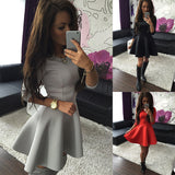 KAYWIDE Fashion Women's 3/4 Sleeve Sexy Spring Women Dress Bodycon Ruffles O Neck Office Dresses Ladis Empire Vestidos - serenityboutique