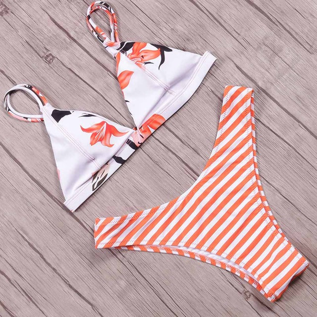 NAKIAEOI Sexy Brazilian Bikinis Women Swimsuit 2018 Padded Beach Wear Halter Bikini Set Push Up Swimwear Bathing Suit Swimming - serenityboutique