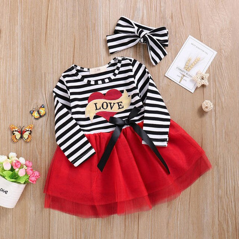Toddler Kids Christmas Outfits Clothes HOMEBABY Baby Girls Deer Striped Princess Dress
