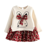 Toddler Kids Baby Girl Cartoon Rabbit Bunny Floral Princess Party Dress Clothes toddler summer clothes kids clothes