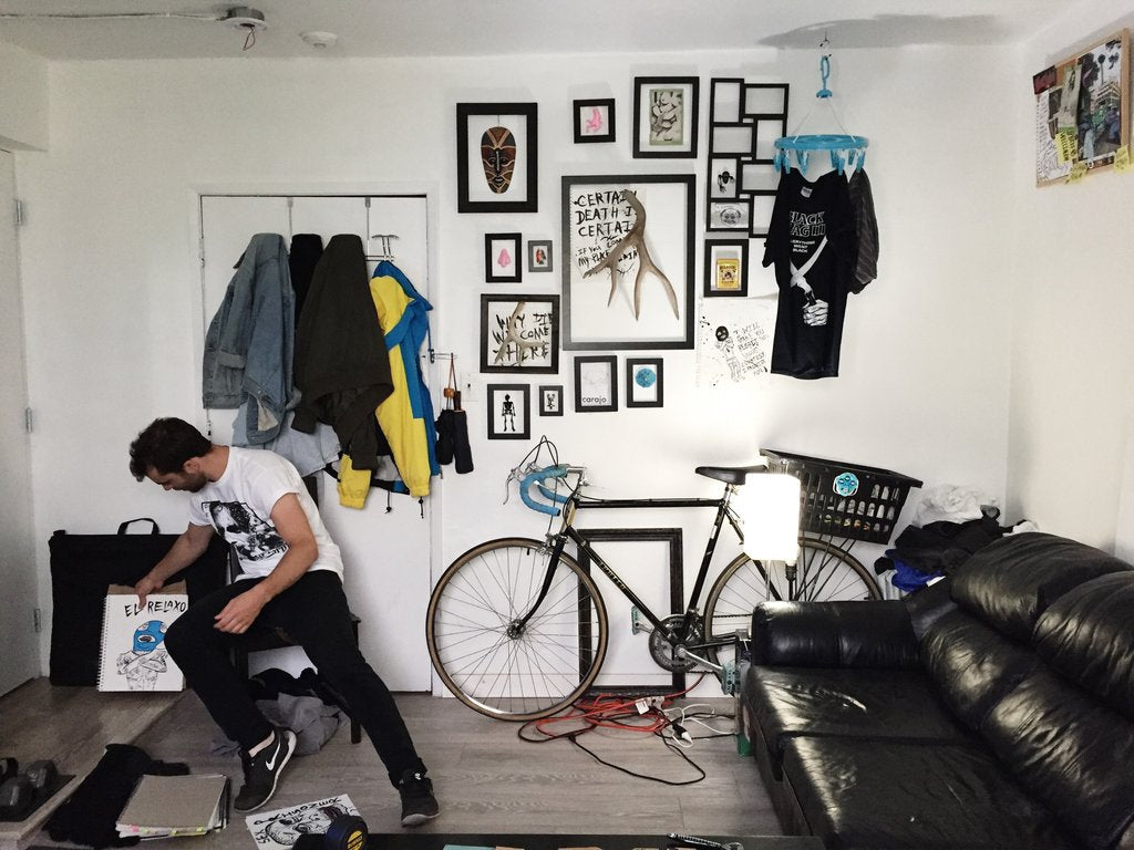 horriblenoise in studio with bike and el relaxo