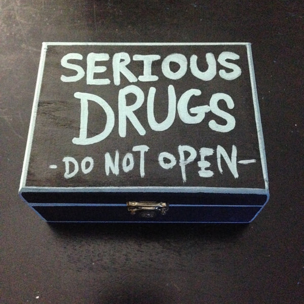 SERIOUS DRUGS wooden latchbox,  Box by HORRIBLENOISE
