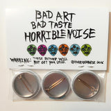 HORRIBLENOISE Buttons BUTTON PACK (3X glossy buttons)
