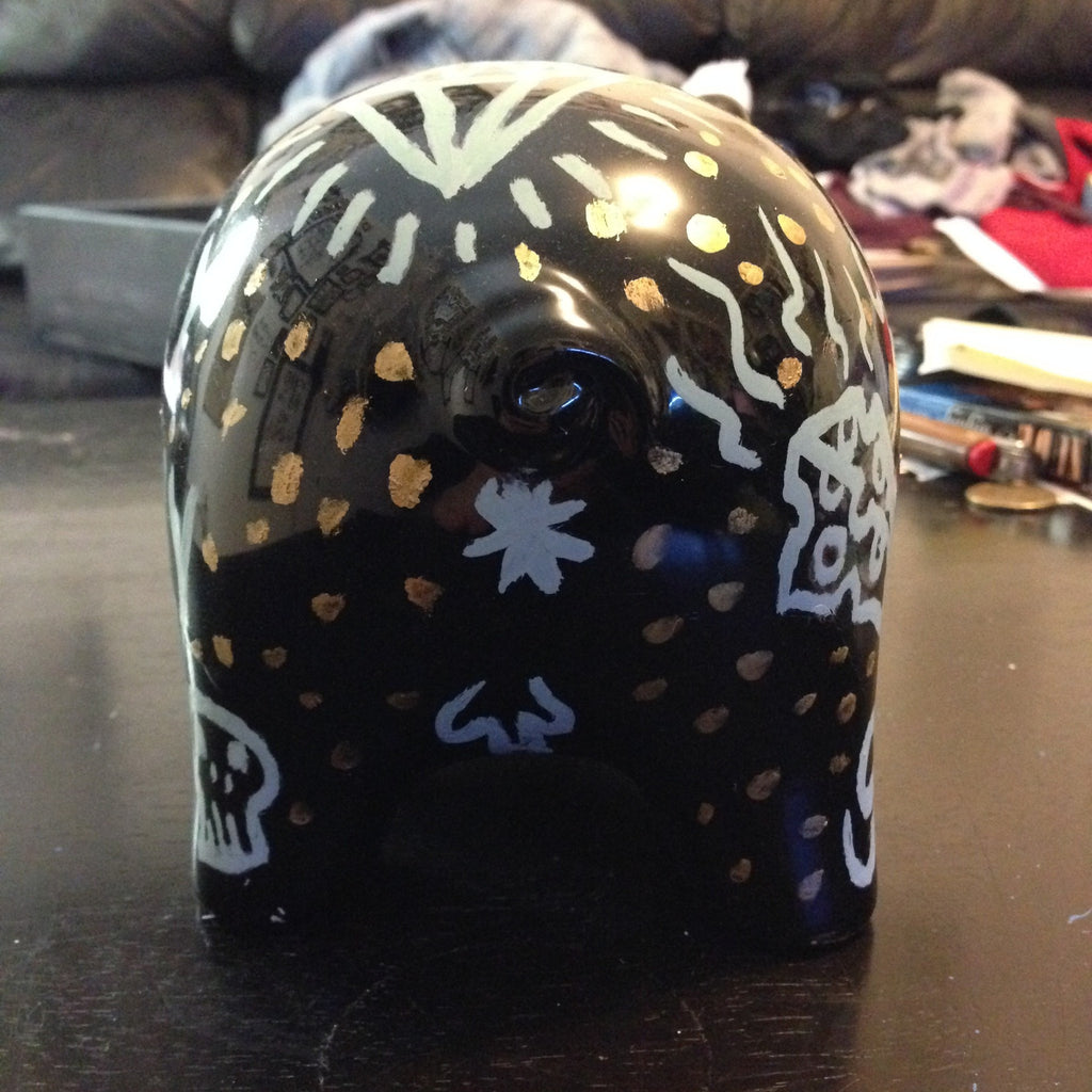 MONEY=MISERY one of a kind piggy bank,  Painting by HORRIBLENOISE