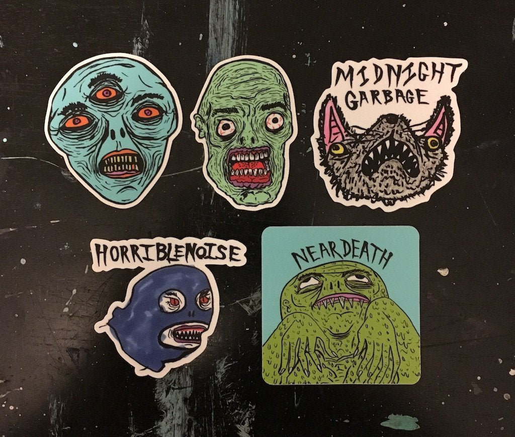 VINYL STICKERPACK 2018,  Stickers by HORRIBLENOISE