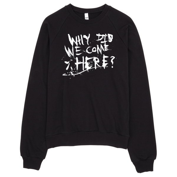 HORRIBLENOISE Sweater WHY DID WE COME HERE crewneck sweater
