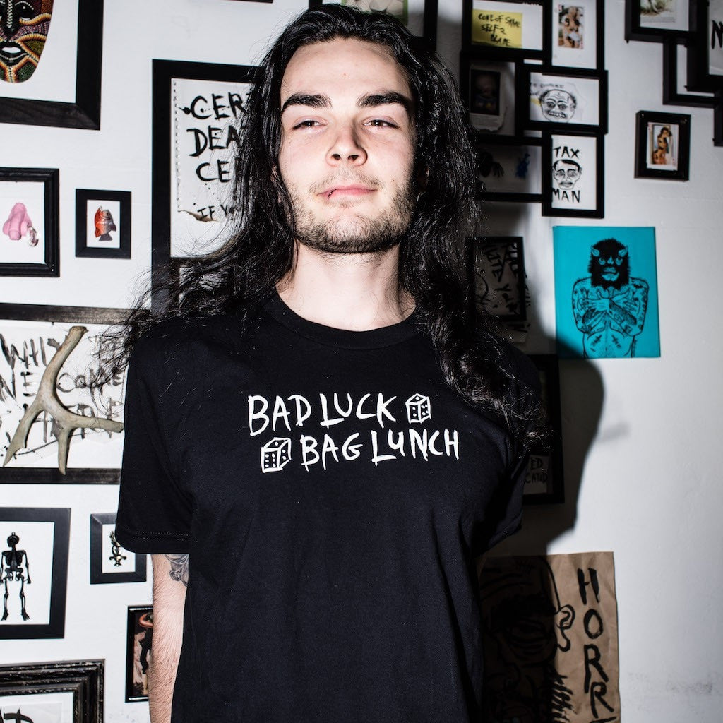 BAD LUCK BAG LUNCH tee,  T-shirt by HORRIBLENOISE
