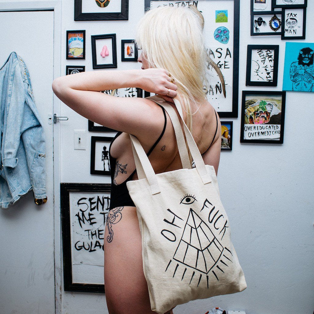 OH FUCK tote bag,  Totes by HORRIBLENOISE