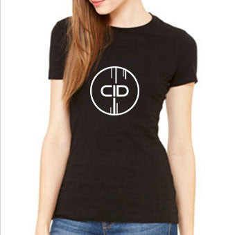 CID LOGO BLACK LADIES TEE