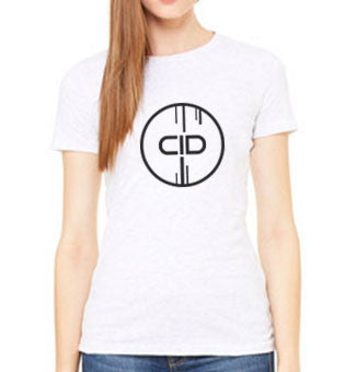 CID LOGO WHITE LADIES TEE
