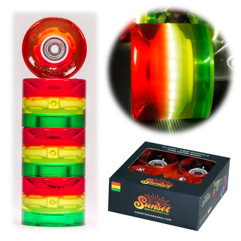 Rasta 59mm Cruiser Wheel Set with ABEC-9 Bearings (4-Pack)