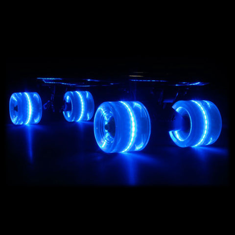 Blue 59mm Cruiser Wheel Sets with ABEC-7 Carbon Steel Bearings