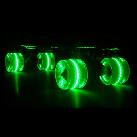 Green 59mm Cruiser Wheel Sets with ABEC-7 Carbon Steel Bearings