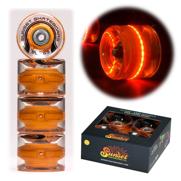 Orange 59mm Cruiser Wheel Sets with ABEC-7 Carbon Steel Bearings