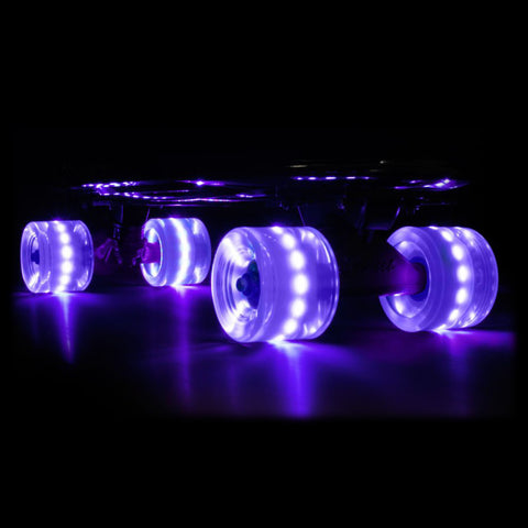 Purple 59mm Cruiser Wheel Sets with ABEC-7 Carbon Steel Bearings