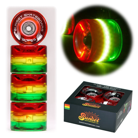 Rasta 59mm Cruiser Wheel Sets with ABEC-7 Carbon Steel Bearings
