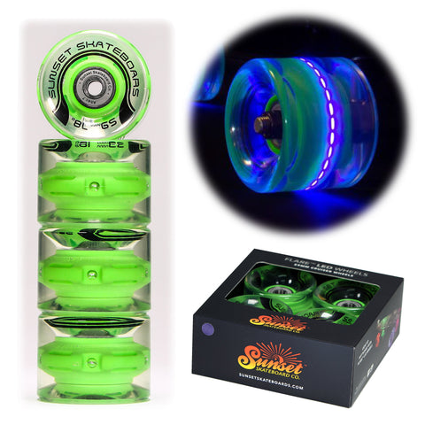 Blacklight 59mm Cruiser Wheel Sets with ABEC-7 Carbon Steel Bearings