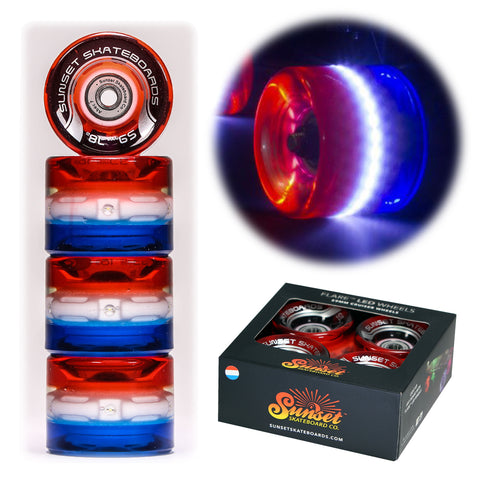 Merica 59mm Cruiser Wheel Sets with ABEC-7 Carbon Steel Bearings