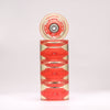 Red 65mm Longboard Wheel Set - Conical - with ABEC-7 Carbon Steel Bearings (4-Pack)