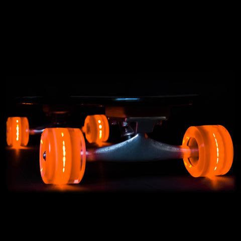 Orange 65mm Longboard Wheel Set - Round - with ABEC-9 Bearings (4-Pack)