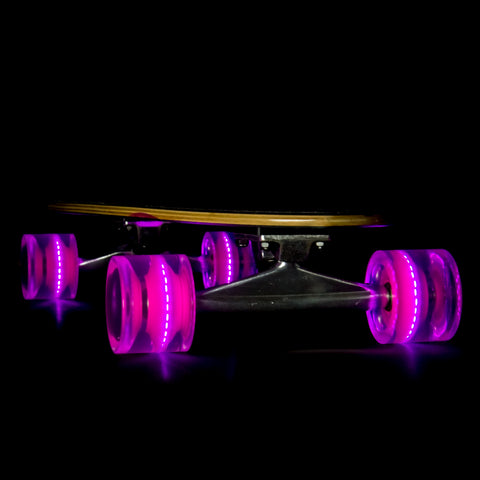 Pink 69mm Longboard Wheel Set  with ABEC-9 Bearings (4-Pack)