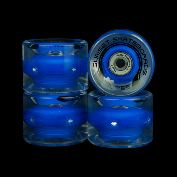 2016 Blue 59mm Cruiser Wheel Set