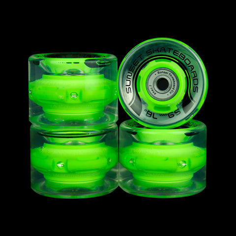 2016 Green 59mm Cruiser Wheel Set