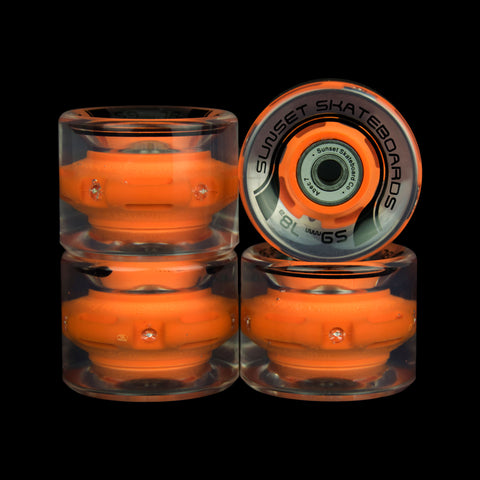 2016 Orange 59mm Cruiser Wheel Set