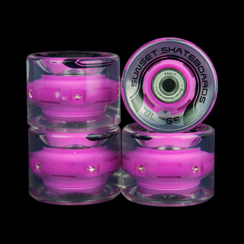 2016 Purple 59mm Cruiser Wheel Set (4-pack)