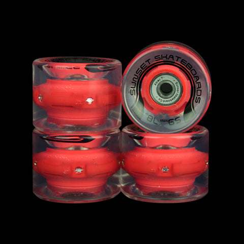 2016 Red 59mm Cruiser Wheel Set (4-pack)