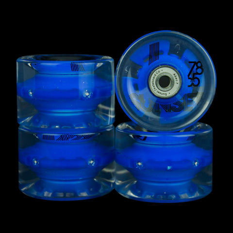2016 Blue 65mm Longboard Wheel Set