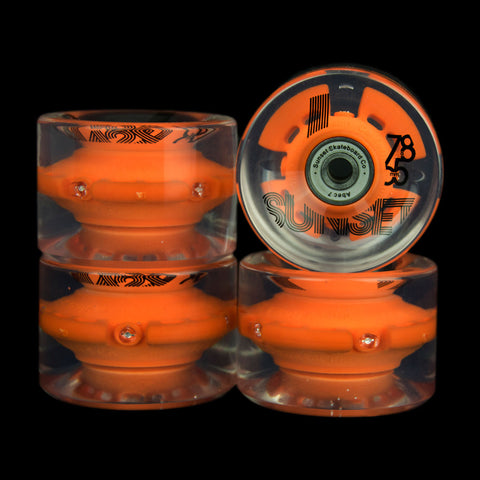 2016 Orange 65mm Longboard Wheel Set