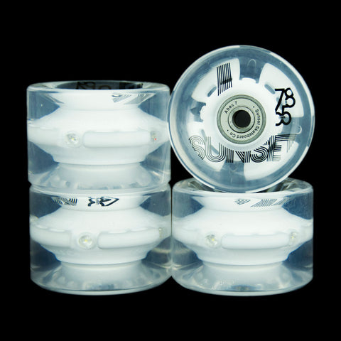 2016 White 65mm Longboard Wheel Set (4-pack)