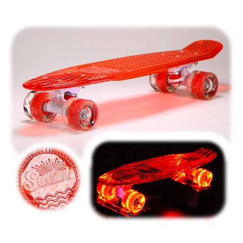 "Lifeguard 22"" LED Complete Skateboard"