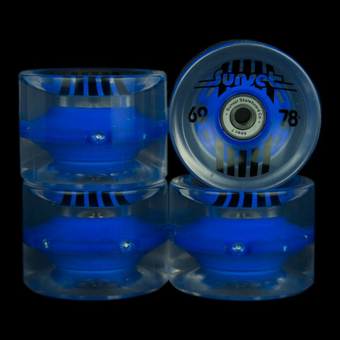2016 Blue 69mm Longboard Wheel Set