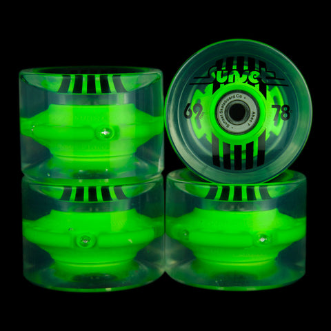 2016 Green 69mm Longboard Wheel Set