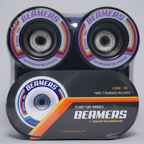 Beamers 63mm Wheel Set- Black