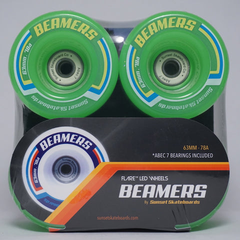 Beamers 63mm Wheel Set- Green