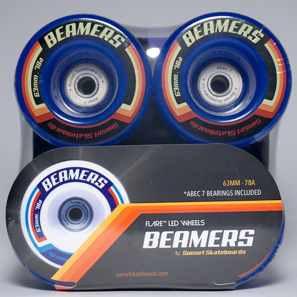 Beamers 63mm Wheel Set- Blue