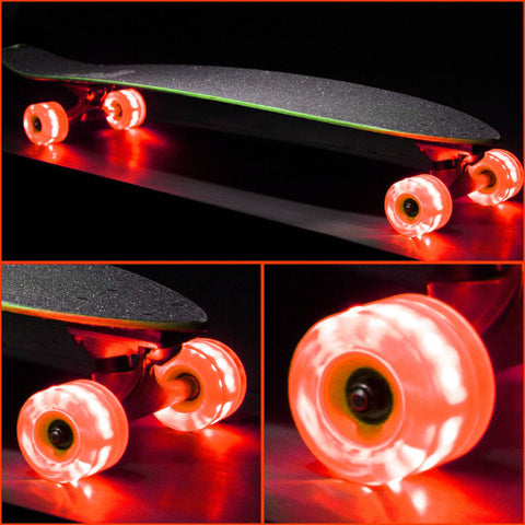 Orange 65mm Longboard Wheel Set (4-pack) Round