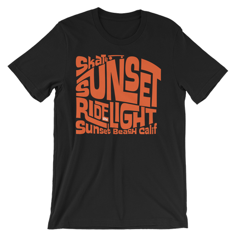 """Skate Sunset, Ride the Light"" T-Shirt"